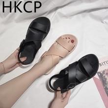 HKCP Sandals women 2019 summer new Korean edition fashion beach versatile platform sandals womens shoes C012