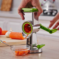 Three Blades Peanuts Walnuts Grinder Multifunctional Vegetable Fruit Cutter Grater Stainless Steel Stir Planing Mill