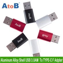 USB 3.0 Macho Para Tipo AtoB C 3.1 Fêmea Adaptador Rápido Carregador de Sincronização de dados USB Tipo C-c Conversor Para Macbook Huawei Oneplus Samsung