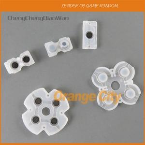 Image 1 - 100 jogos/lote 5 em 1 conjunto para playstation 4 jds001 011 almofadas condutoras de borracha de silicone para peças de reparo do controlador ps4