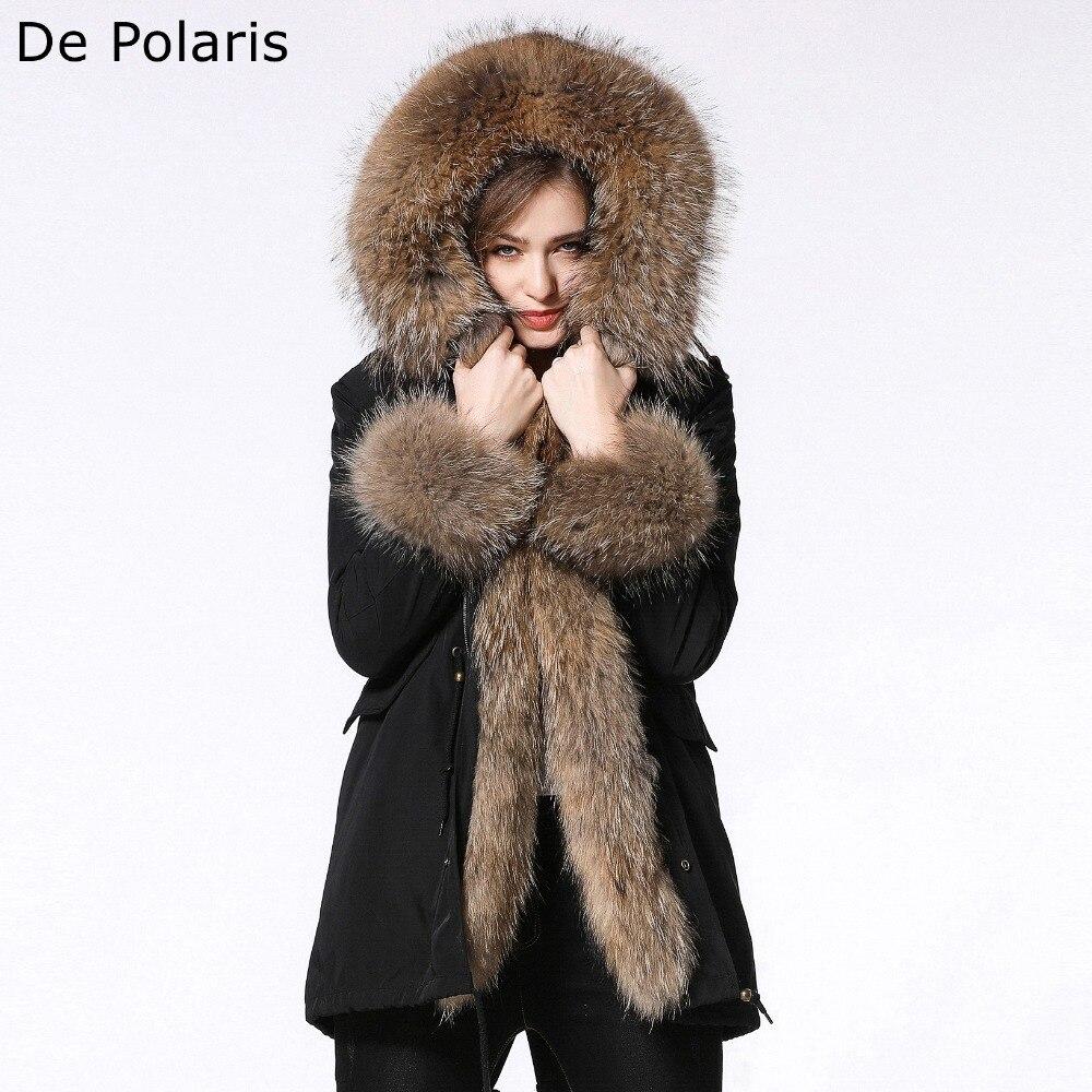 parka woman 2018 New fur coat parkas 90CM winter coat women parka big real raccoon fur collar natural fox fur liner long parka