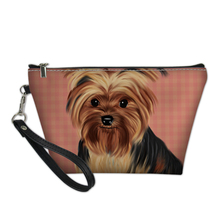 NOISYDESIGNS Cute Yorkie Women Cosmetic Bag Travel Make Up Bags Toiletry Kit Beauty Case Functional Pouch Pencil