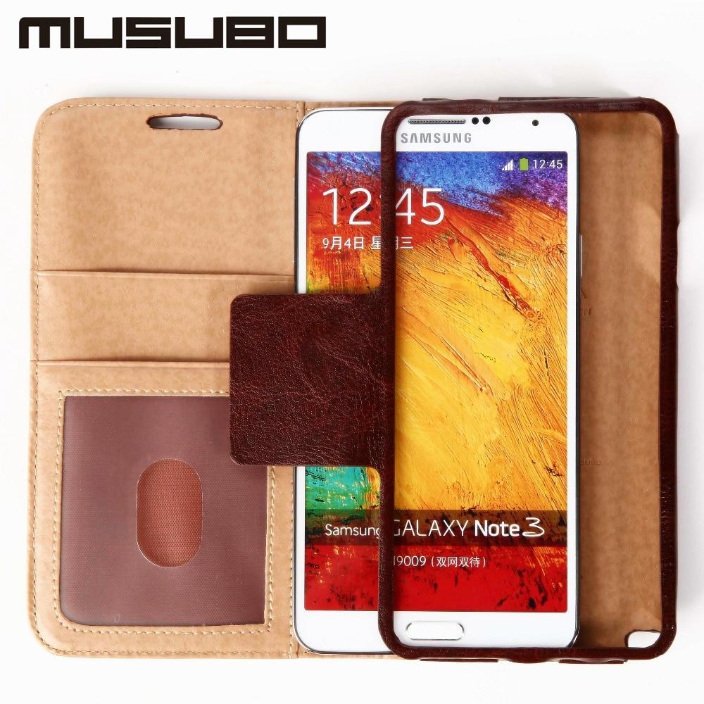 imágenes para Musubo Caja Del Teléfono Móvil Para Samsung S3 S4 S5 Funda de Lujo Cartera de cuero Titular de la Tarjeta Flip Casos de La Cubierta Para la Galaxia Nota 3 2