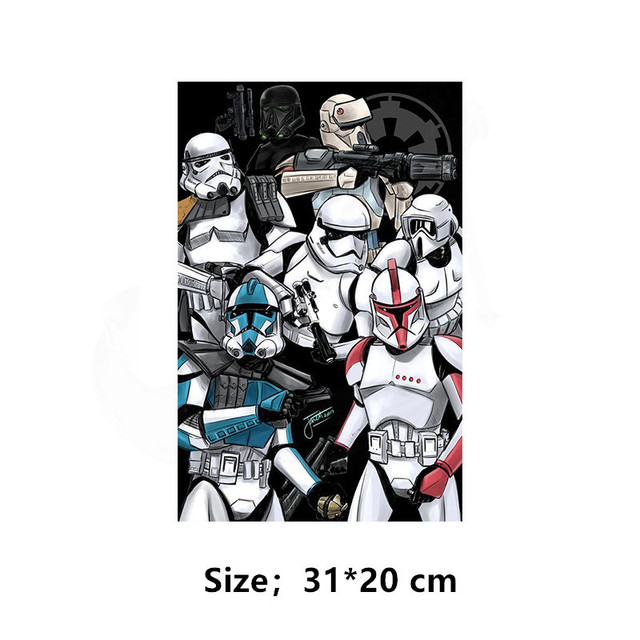 Europe popular elements Star Wars poster Patch for clothing 31*20 cm iron on patches Diy child T-shirt thermal transfer sticker