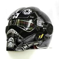NEW Black Star Wars MASEI IRONMAN Iron Man Helmet Motorcycle Helmet Half Open Face Helmet 610
