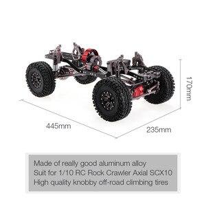 Image 3 - 1/10 بارد سباق CNC الألومنيوم و الكربون إطار محوري SCX10 الهيكل 313 مللي متر قاعدة العجلات RC سيارة إطار