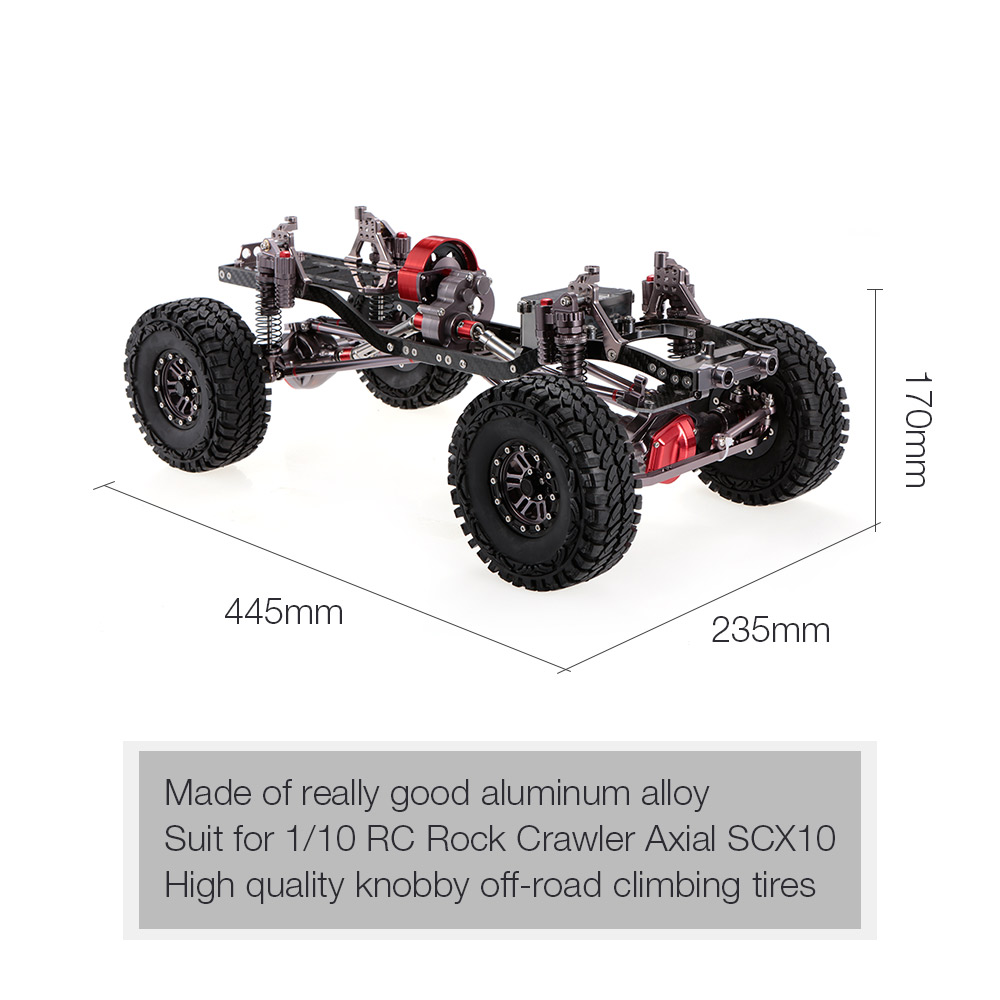 Image 3 - 1/10 Cool Racing CNC Aluminum and Carbon Frame AXIAL SCX10 Chassis 313mm Wheelbase RC Car FrameRC Cars   -
