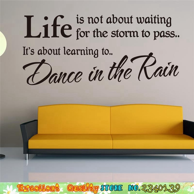 Inspired Words Life Inspirational Quotes Wall Stickers Home Decals Living  Room Decoration Sofa Background Wall Letters
