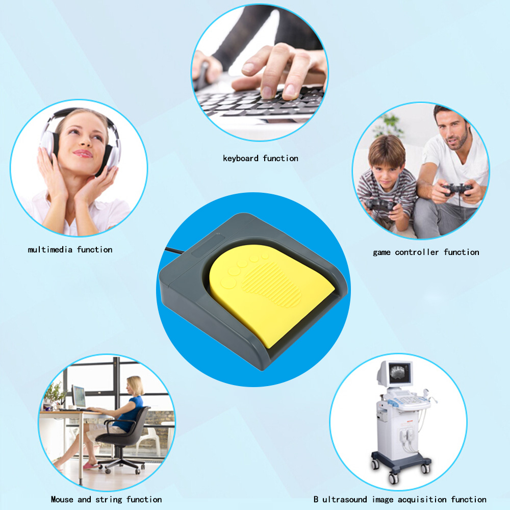 Image 3 - PCsensor USB Single Foot Switch Control One Key Customized Computer Keyboard Action Pedal Grey with Yellowusb foot switch pedalusb foot pedalusb pedal -
