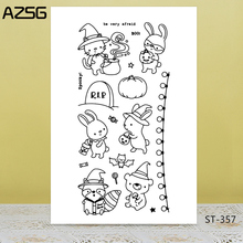 Cute rabbit Transparent Silicone Stamp for DIY Scrapbooking/Photo Album Decorative Card Making Clear Stamps Supplies