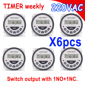 7 Days 220VAC Digital Timer Switch Module with 1 NO + 1 NC volt free output, 16A Relay Time Control with COVER