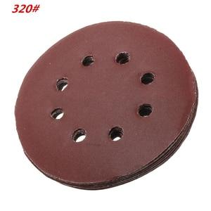 Image 3 - 60 Pieces 8 Holes 5 Inch Sanding Discs Hook and Loop 60/100/180/240/320/400 Grit Sandpaper Assortment for Random Orbital Sander