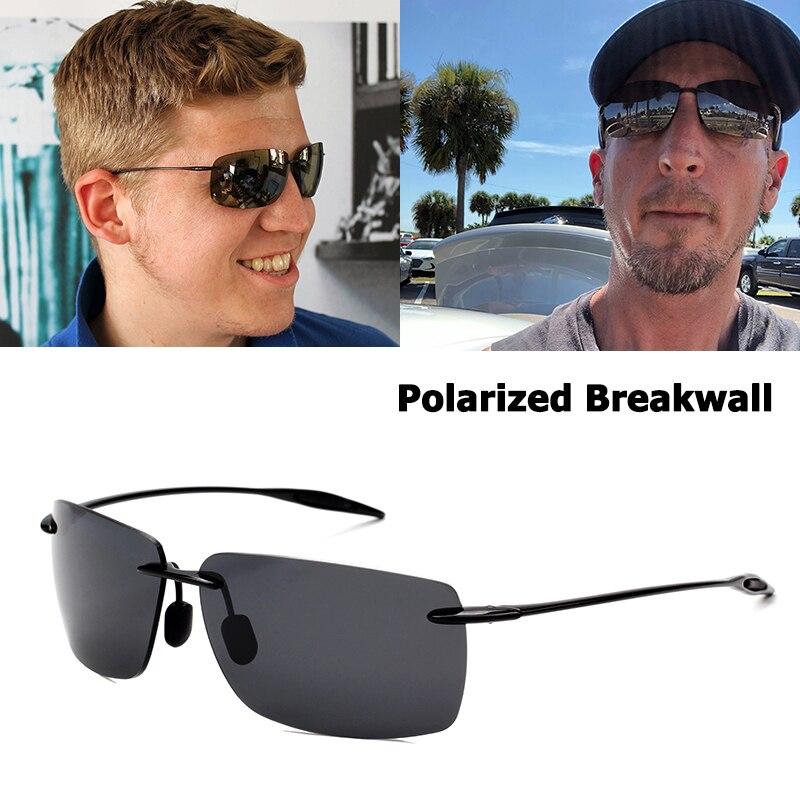 JackJad Esportes TR90 Armação Sem Aro BreakWall Estilo Óculos De Sol Do Vintage Polarizada óculos de Design Da Marca Óculos de Sol Oculos de sol Masculino
