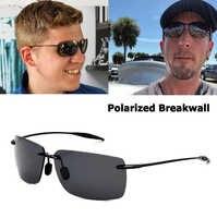 JackJad Sports TR90 marco sin montura estilo BreakWall gafas De Sol polarizadas Vintage marca De diseño gafas De Sol Oculos De Sol Masculino
