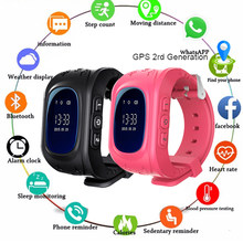 Anti Lost Q50 OLED Child GPS Tracker SOS Smart Monitoring Positioning Phone Kids GPS Baby Watch Compatible IOS & Android(China)