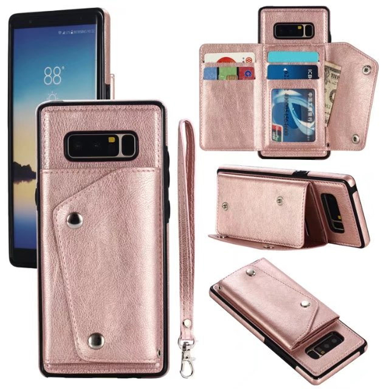new concept 375a0 cd0aa US $6.39 |Fashion Multifunction Card Pack Card with Lanyard Phone Case For  Samsung Galaxy S9 S8 Plus Cover For Samsung S6 S7 Edge Note 8-in ...