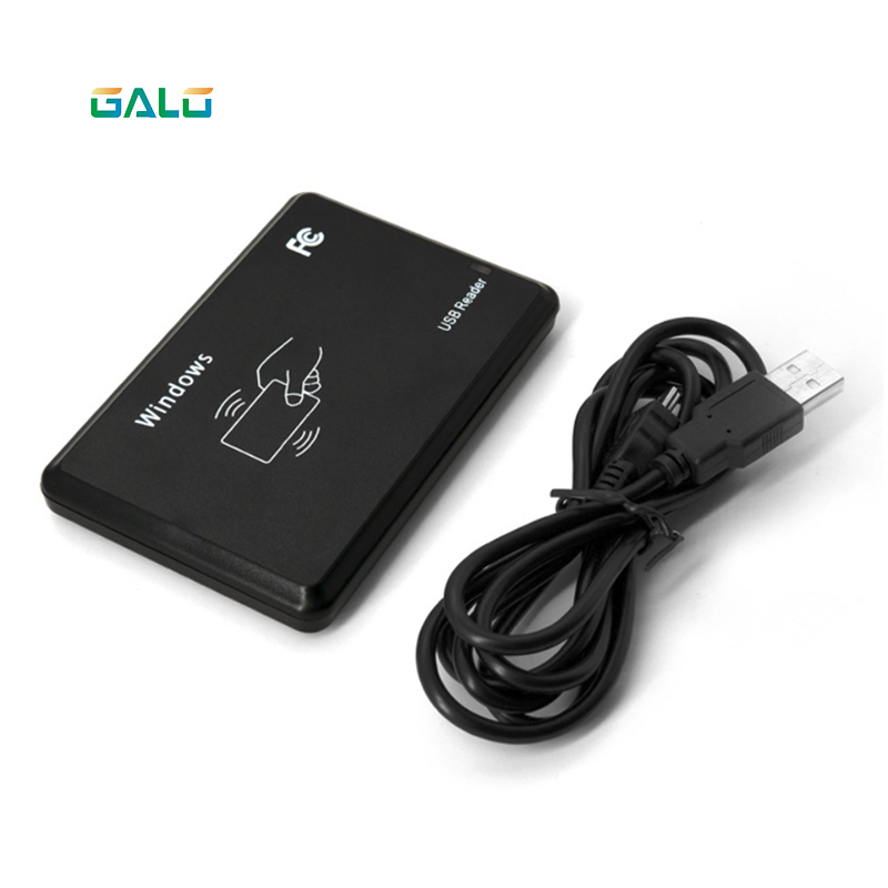 USB RFID ID Contactless Proximity Smart Card Reader EM4001 EM4100 Windows 125khz