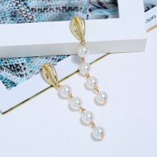 Bohopan Elegant Pearl Earrings For Women Hot Selling Shell Shape Dangle Fashion