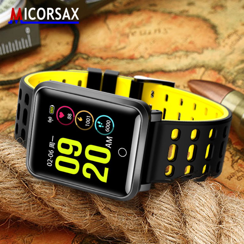 Fashion New Smart Watch IP68 Waterproof Wristband Heart Rate Blood Pressure Smart Bracelet for iOS Android Standby Time 25 Days diggro di10 smart sport watch ip68 waterproof pedomete long standby time bluetooth 4 0 smart 1 21 inch watch for ios android