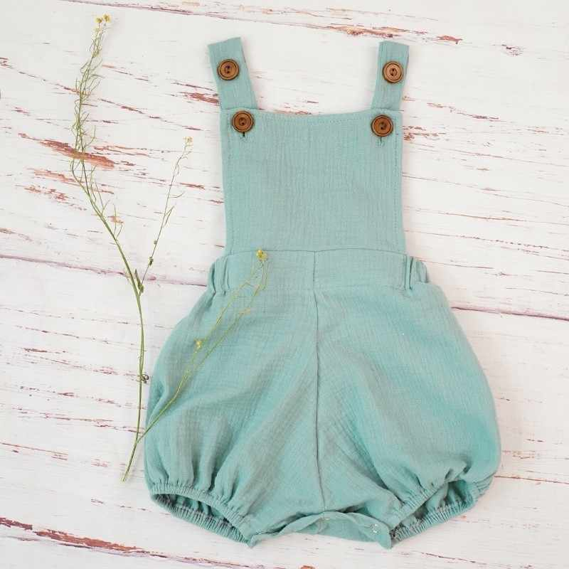 Хлопковый комбинезон для маленьких мальчиков; летний органический Мягкий комбинезон с двойной марлей; комбинезон для новорожденных; удобные костюмы для малышей; Roupa