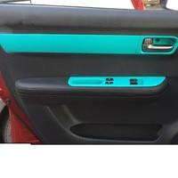 4PCS New Design Microfibre Leather Interior Doors Armrest Cover For Suzuki Swift AAB167