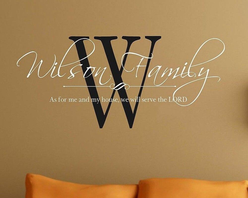 Custom Name Wall Vinyl Word Art Decal Lettering