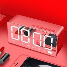 Bluetooth Speaker Wireless Home Speaker Card Alarm Clock Audio Mini Mirror Smart Wireless Sound System Portable Outdoor Speaker ggmm e3 wireless speaker best bluetooth speaker 2018 wifi smart speaker bluetooth support alexa with alarm clock