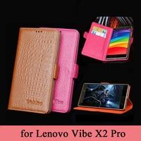Wobiloo Lujo Negocios Caso de Cuero Verdadero para Lenovo Vibe X2 Pro 5.3 pulgadas Patrón de Diseño Tirón de la Carpeta Cubierta Del Teléfono Protectora Shell