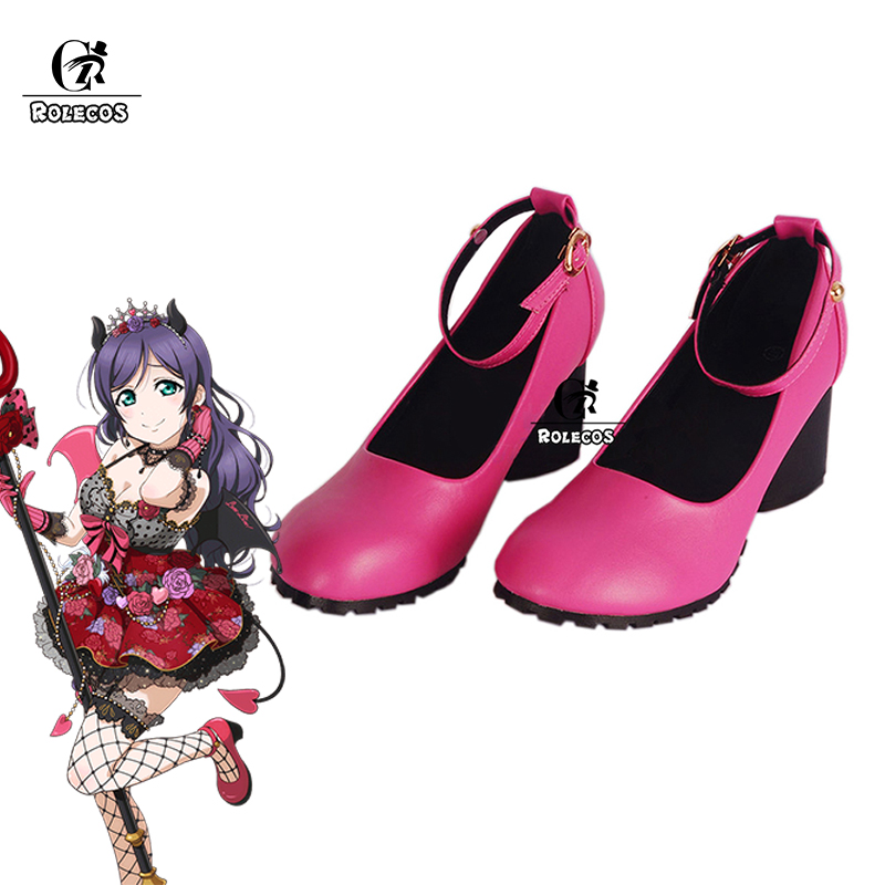 ROLECOS Lovelive Cosplay Shoes All Characters Little Devil Shoes Love Live Cosplay Hihg Heels Women Tojo