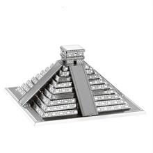 цена на 3D metal model puzzle pyramid DIY model assembly kit children's toys suitable for adult children's educational gift collection