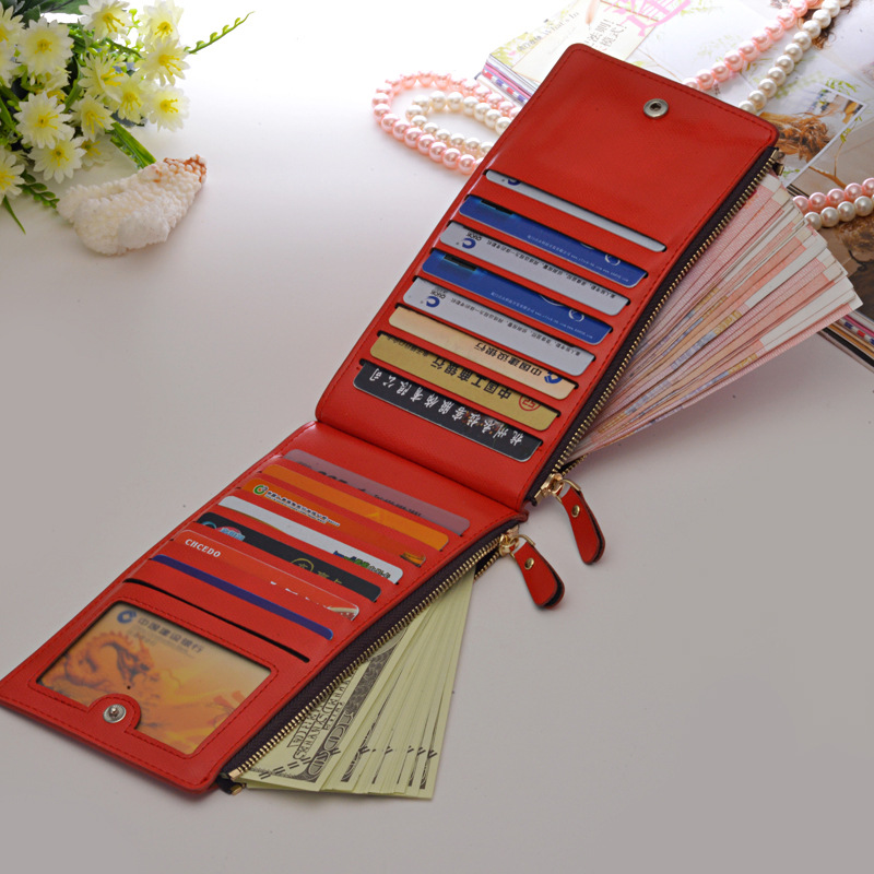 Women New Leather Zipper Wallet Cell phone ID Card Holder Female Hasp Fashion Purse Dollar Price Ladies Red Clutch Wallets new fashion women leather wallet deer head hasp clutch card holder purse zero wallet bag ladies casual long design wallets