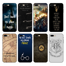 HOUSTMUST Harry Potter Touch My Phone Black Soft Case Cover For iPhone 7 7plus 8 8plus XS XR max 5s 6 6S 6plus phone case