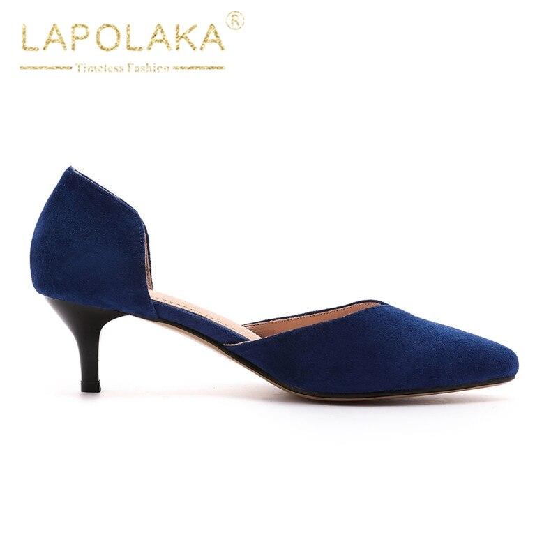 De Femme Sexy Daim Sur Noir Chaussures Slip 43 gris Bout Pompes Noir Femmes Qualité Gris Faux Lapolaka Pointu bleu Bureau 33 Bleu Tailles Grandes dFzqwCCfn