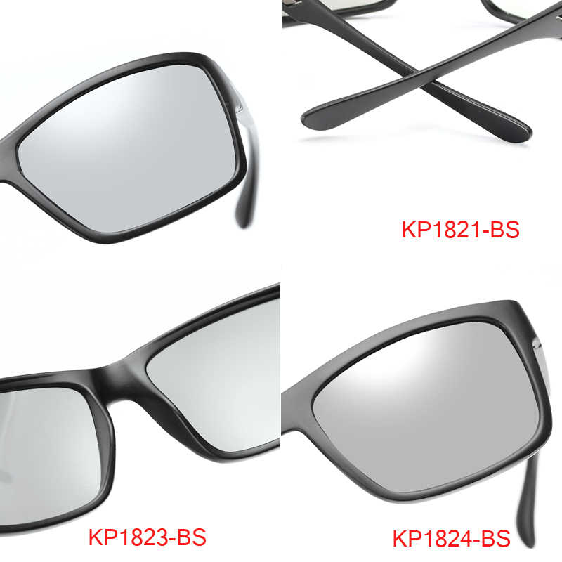 a840511909bad ... Hot Sale Men HD Polarized Photochromic Sunglasses Women Chameleon  Discoloration Sun glasses Black Frame by LongKeeper ...