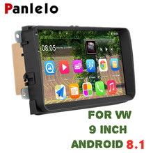 Panlelo For VW Android 8.1 1G 16G Car Radio Stereo 9 inch Touch Screen GPS Navigation Bluetooth USB Player For VW Polo Passat b6 android 6 0 1 quad core 9 inch gps wifi car multimedia player 800 x 480 hd capacitive touch screen 1g 16g for vw