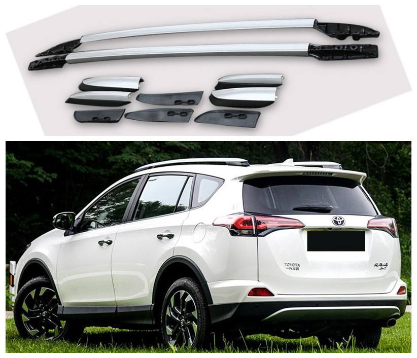 Car Roof Racks luggage Rack bar For TOYOTA RAV4 2013 2014 2015 2016 2017 2018 High Quality Aluminium Alloy Auto Accessorie one pair car adjustable black front rear roof top rack cross bar for toyota 2013 2017 rav4