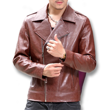 2016 Motorcycle Leather Jackets Coats Jaqueta De Couro Masculina Giacca Pelle Uomo Men's Casual Fashion Slim Fit Jackets M-4XL