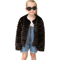 Girls Faux Fur Coat Jacket Kids Baby Girls Thick Warm Outwear Children 2017 Fashion Clothes Fake