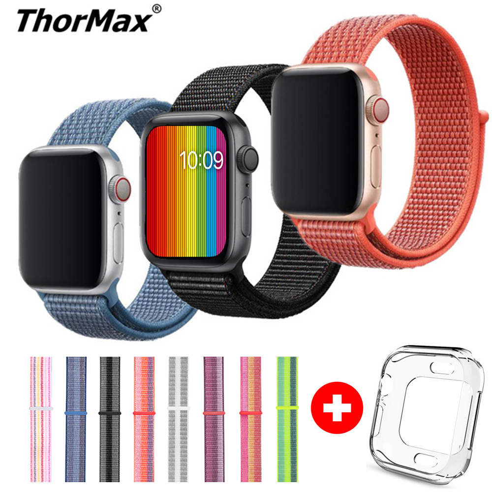 Band For Apple Watch Series 4 3 2 1 38MM 42MM Nylon Soft Breathable Bracelet Replacement Strap Sport Loop For Iwatch 4 40MM 44MM