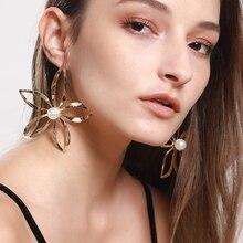 Fashion Flowers Earring Temperament Hollow Out Flower Dangle Eardrop Earring Women Party Wedding Alloy Ear Jewelry цены онлайн