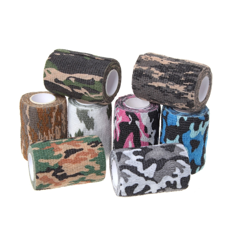 1PC 7.5cmx4.5m Army Camo Tape Hunting Shooting Military Elastic Stealth Wrap Bandage 5cmx10m bionic camouflage wrap outdoor hunting shooting tape military accessory constructed by non woven fabrics
