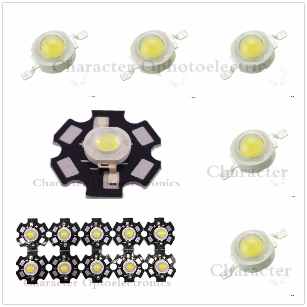 10pcs 1W 3W High Power 3000K 4000K 6000K 10000K 20000K <font><b>30000k</b></font> <font><b>LED</b></font> + 20mm star pcb/ no pcb image