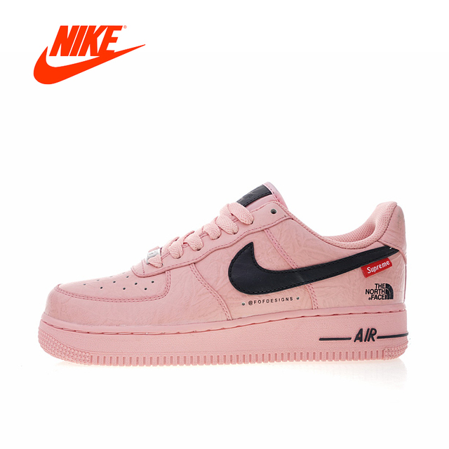 newest e70de ea0f7 Original New Arrival Authentic Nike Air Force 1 X Supreme X The North Face  Women s Skateboarding Shoes Sneakers AR3066-800