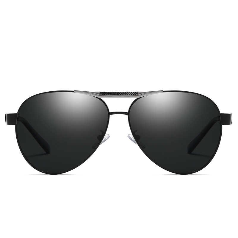 Sunglasses for Men Polarized Lens YASANDO Top Brand Classical Pliot Metal Frame Driving Shades  UV400 Male Sun Glass XY4269