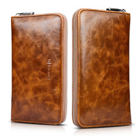 Original ICARER Premium Genuine Leather High Grade Vintage Passport Wallet Case For IPhone 7 Universl Leather