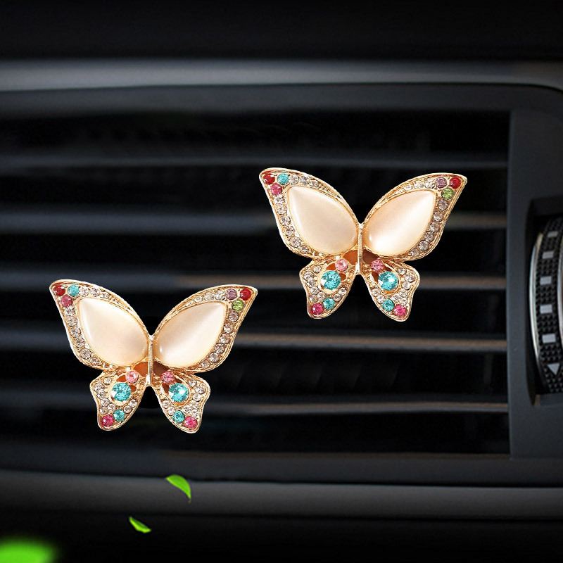 Butterfly styling car Perfume clip marvel air conditioner outlet freshener in the automobile