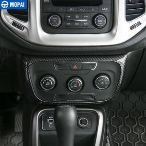 Image 2 - MOPAI autocollants de décoration pour panneau de commande de climatisation intérieure de voiture, pour Jeep Compass, 2017 Up, stylistique