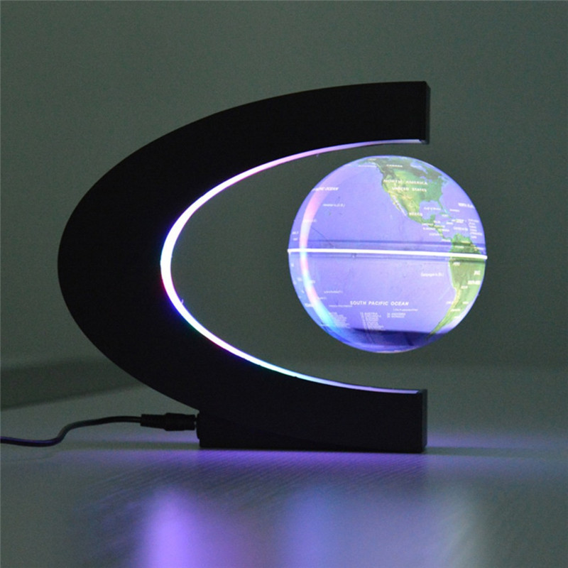 POTENCO High-definition Luminescent Magnetic Levitation Globe LED Lighting Creative Birthday Gift Home Decoration gift n home