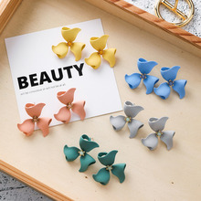 Korea New 2018 Design Big Acetic Acid Acrylic Irregular Metal Flower Stud Earrings for Women Girl Summer Beach Jewelry
