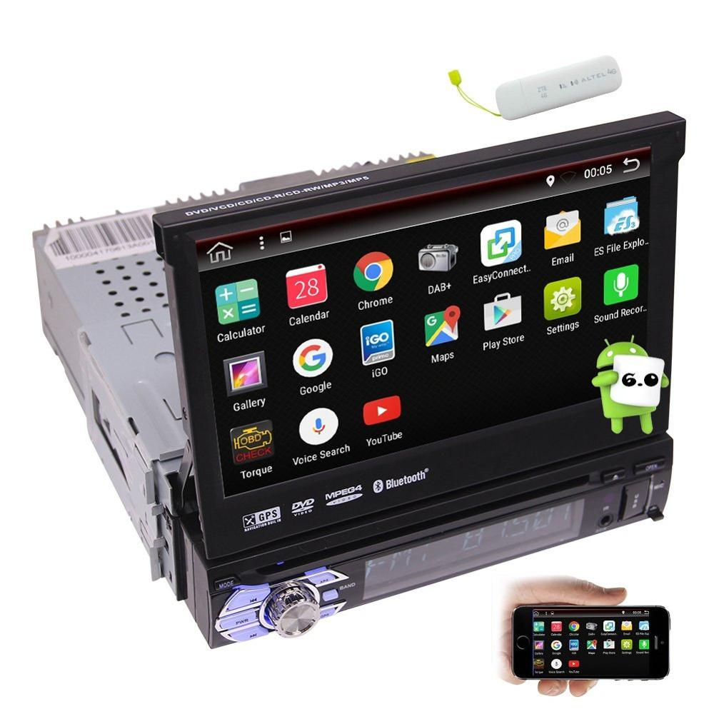 1din android 6 0 car stereo touch screen car dvd player. Black Bedroom Furniture Sets. Home Design Ideas